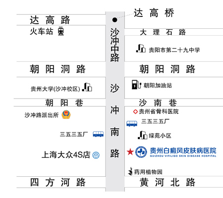 贵州白癜风皮肤病医院路线图